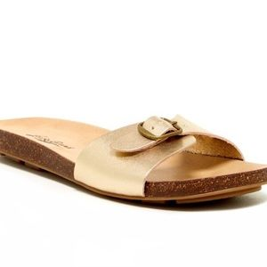 Lucky Brand Dollie Sandal Gold Slide 7.5